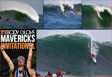 "<font color=""#003366""><strong><font color=""#510000"">Grant Baker has conquered the iconic Mavericks Invitational 2013/2014,</font> at Half Moon Bay, California. Two wave hold-downs, air drops, scary wipeouts, four judges in the water, inflatable wetsuits and a solid swell blasting Pillar Point for hours.</strong></font><strong> <a href=""http://streamer.co.il/news/view/493/"">Click here to read more</a></strong>"