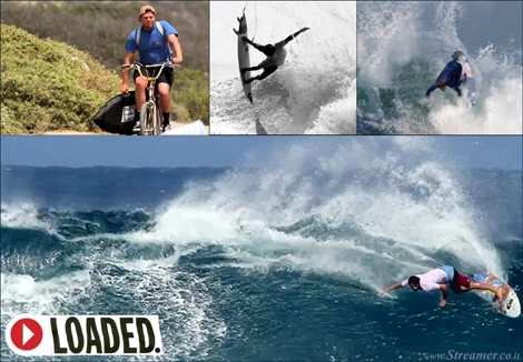"<font color=""#003366""><strong><font color=""#470000"">Getting &quot;Loaded&quot; with Dane Reynolds</font> - Prepare  for 23 minutes and eight seconds of retro surf footage. Dane Reynolds is the star in a new surf movie &quot;Loaded&quot;. <a href=""http://streamer.co.il/clips/view/152"">Click here to watch</a></strong></font>"