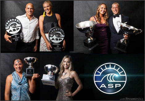 "<font color=""#003366""><strong><font color=""#470000"">The 2014 ASP World Surfing Awards</font>. The world's best surfers traded sunlight for the spotlight as they hit the black carpet for the 2014 ASP World Surfing Awards - The night opens a new season. The 2014 ASP World Surfing Awards celebrated the outstanding achievements of the 2013 Dream Tour, in an event where boardshorts are not allowed. <a href=""http://streamer.co.il/news/view/502"">Click here to read</a></strong></font>"