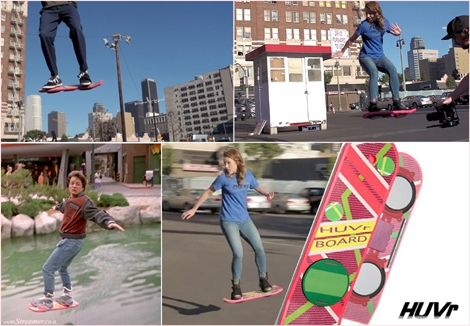 "<font color=""#003366""><strong><font color=""#5b0000"">Surfing the streets with the hoverboard.</font> HUVr claims to have created the ultimate hoverboard, an high-tech skateboard without wheels that has invaded the streets of Los Angeles. Fantasy or reality? <a href=""http://streamer.co.il/news/view/505"">Click here to read</a></strong></font>"