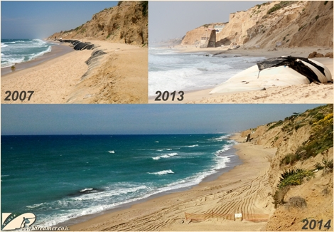 "<font color=""#003366""><strong>What has changed in Kever Ha Sheik beach in Ashqelon? <font color=""#510000"">Seven Years</font> <a href=""http://streamer.co.il/files/gal_img/8703.jpg"" target=""_blank"">ater they were build</a> and <font color=""#510000"">Five years</font> <a href=""http://streamer.co.il/files/gal_img/5770.jpg"" target=""_blank"">after they disintegrated</a> and become hazardous environmental threat, The sand bags were taken away eventualy! <font color=""#510000"">The best solution for the collapsing cliff is Artificial reef.</font> <a href=""http://streamer.co.il/articles/cat/artificial_reef_project/"">Click here to read</a></strong></font>"