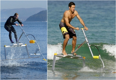 "<font color=""#003366""><strong><font color=""#510000"">Kick to Surf: Human powered Hidrofoil.</font> Can you imagine riding waves with a human-powered hydrofoil? The invention has 60 years, but this small hydrofoil watercraft does not need a jet ski to tow. <a href=""http://streamer.co.il/news/view/516/"">Click here to read</a></strong></font>"