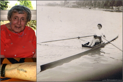 "<em><strong><font color=""#650000"">holocaust memorial day.</font> This is my grandmother <font color=""#650000"">Annie De-Levie</font>. My brave heroic grandmother that passed away a year ago. In her youth she used to paddle on her Skiff (Sort of a Kayak) in the Channels of Amsterdam. Her beautiful lively youth ended at the start of 1940 when the Nazis captured her and send her to Auschwitz concentration camp. My grand mother survived and raised a family and the Israei country but the nomber on her arm wa kept as a silnet reminder of the horror time she passed. NEVER AGAIN! Love You grandma - Yoav </strong></em>"
