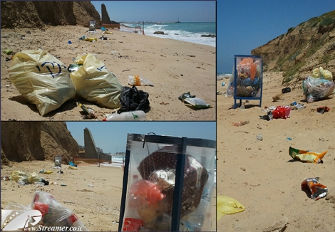 "<font color=""#003366""><strong><font color=""#510000"">Summer season and the beach agenda</font>. This is Goot beach in Ashqelon a few days after the ckean-up project we have conducted. Ashqelon muni did not remove the garbage bags! The fine line that defines moralty and enviornmental responsibility. How would be the summer on the beaches of Israel? will it stay clean? <a href=""http://streamer.co.il/news/view/522/"">I doubt it</a> :( </strong></font>"