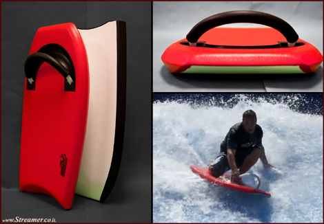 "<font color=""#003366""><strong><font color=""#5b0000"">Surf Skooter: The bodyboard with handle bars</font>. Surf Skooter, a bodyboard designed to fill the gap between surfing and bodyboarding, will be launched in the summer of 2015. <a href=""http://streamer.co.il/news/view/546/"">Click here to read</a></strong></font>"