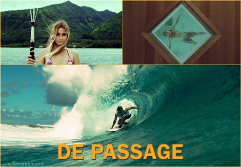 "<strong><font color=""#003366""><font color=""#650000"">DE PASSAGE - Surf film</font>.</font> </strong><font color=""#003366""><strong>You're no longer need to be sitting around  waiting for something to happen. You're out there, going to the moments. <a href=""http://streamer.co.il/clips/view/172/"">Click here</a> to watch the excellent reef film.</strong></font>"