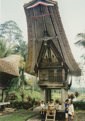 Typical Tana Toraja House, Sullawessy