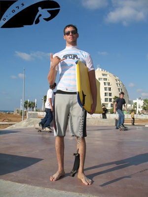 Elad and his Toobs Bodyboard