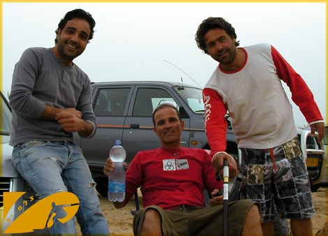 3 good friend and surfers that were hit by a missile at Bar-kochva beach last week. Today they are back to the beach feeling better and bringing a smile on our faces. From right to Left: Oren Mor-Yosef, Ilan Bitton and Nati Azizi