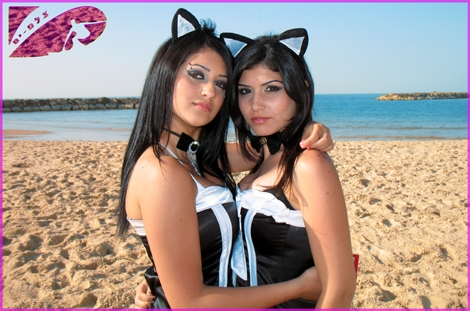"So much beuty on the beach of Ashqelon ... Purim holliday and 2 ""cats"" on the beach - Marry holiday to all"