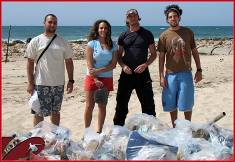 It was the fifth time in a row and we are not letting it go! The green friends of Streamer's friday cleaning initiative has donr it again - and today at Dlila beach, Ashqelon. Thank you all