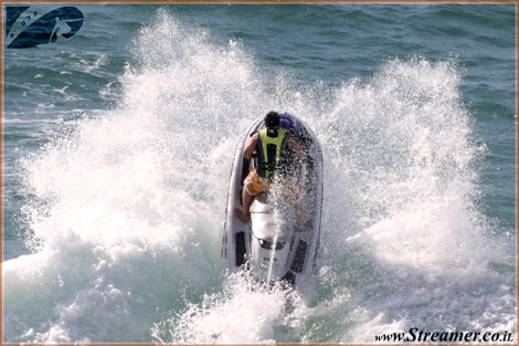 Jet-Ski Action and Ashqelon beach - At Higj wave conditions it is more challenging - July 2008