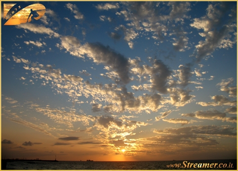 When the sun sets it's when the show begins... Clouds are streching throughout the sky and bright collors rays reflect on the ocean - Ashqelon Nov. 08