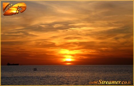 The Sun is lightning the universe...! The sky is on fire, the clouds like burning flames - Mediterranean sea Dec 08