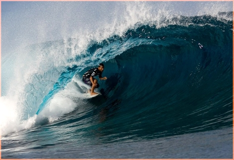 "Hollow tubes, sea in many collors of blue, sharp reef but there is only one winner at the Tahiti Pro. Boby Martinez lives Taj at the second place at Teahapoo - <a href=""http://streamer.co.il/news/view/103/"">Congartulations Boby</a>:-)"