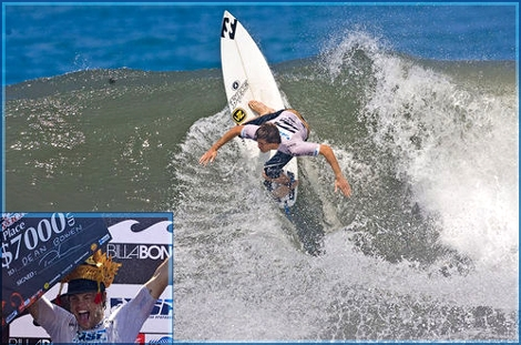 "Dean Bowen age 18 from Australia wins the Billabong Pro Junior in Bali ASP 5 star competition - <strong><a href=""http://streamer.co.il/forum/viewtopic.php?f=3&amp;t=587"">Read more here</a></strong>"
