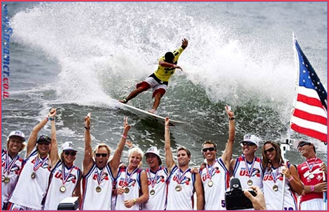 Team USA is the big winner of Billabong ISA World Surfing Games in Costa-Rica. In Main photo - Jeremy Flores cutting the wave to half