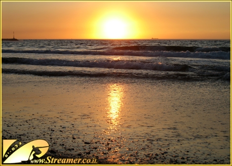 Sun sets over the mediteranean sea... The glow of yellow warm rays are here to stay - Ashqelon Nov 2009