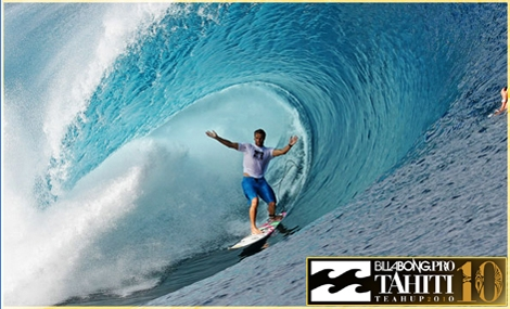 "<strong>Ian Walsh from Hawaii feels like home on the Tehapu wave in Tahiti. The Billabong Pro in Tahiti will start on September 1st 2010. <a href=""http://streamer.co.il/news/view/185/"">Click here to watch the Trials Review</a></strong>"
