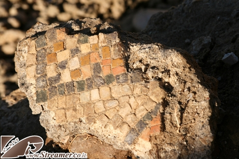 After the storm - Mosaic peices from ancient roman times Ashqelon Israel 14/12/2010<br />