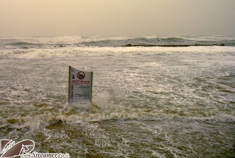 The eye of the strom at Kever Ha-Sheich beach Ashqelon Israel. 12/12/2010