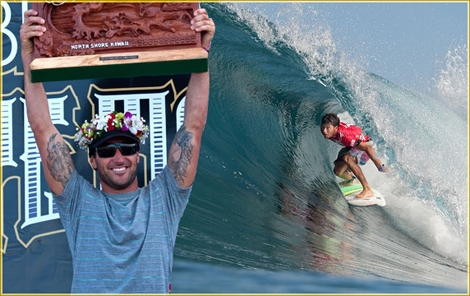 "<font color=""#333333""><strong>jeremy Flores 22 yo from france is the winner of the Billabong Pipe Masters competiton in Hawaii. The Australian Joel Parkinson won for the 3rd time the Triple Crown. <a href=""http://streamer.co.il/news/view/218/"">Click here for the final results</a></strong></font>"