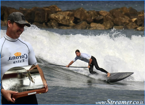 "<font color=""#333333""><strong>For the first time in Israel - SUP competition was held in Hilton beach TLV. Tzahi Haus, The manager of Billabong Israel, won the first place ... Respect! Click here to watch the <a href=""http://streamer.co.il/news/view/227/"">photo album</a></strong></font>"