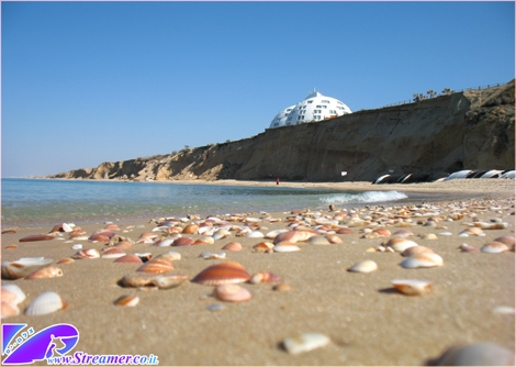 """<font color=""""#333333""""><strong>This photo could have been much nicer if it wasn't for the Sheer Clif and narrow beach... but thank god for the Seashels and Blue sea...:-) Kever Ha-Sheich beach Ashqelon Feb 2011</strong></font>"""