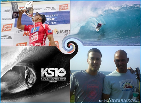 "<font color=""#333333""><strong>He is the best surfer in world! 10 times surfing champion and maybe he's on his way to the 11th...! For majority of surfers <font color=""#ff0000"">Kelly Slater</font> (Known also as Slaten=10) is kind of a god... among those fans is local surfer, Nitzan Krisi, who is inspired by him with every step on his wave<br /></strong></font>"