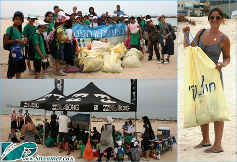 "<font color=""#008000""><strong>beach clean-up project at Dalila beach Ashqelon, Isrealת Friday May 20th 2011.</strong></font>  <font color=""#333333""><strong>Billabong Israel, Zalul foundation, Streamer's Green initiative and  School kids from from Rambam school in Ahqelon  managed to colect a huge amount of garbage from beach and suroundings :-) Click here to <a href=""http://streamer.co.il/live/?file_id=687"">watch the clip and Photo gallery</a></strong></font>"