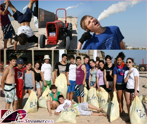 "<font color=""#333333""><strong><font color=""#008000"">Zikim beach clean-up.</font> On Tuesday May 31 2011 About 20 school graduates volonteers from Bney Shimon council (Mevo'ot Ha-Negev school) Joined Streamer's green beach initiative to clean the sand and dunes of Zikim. In the upper photos are&nbsp; some artistic shots with the powerplant smoke... <a href=""http://streamer.co.il/live/?file_id=691"">click here to watch the special clip and Photo gallery</a></strong></font>"