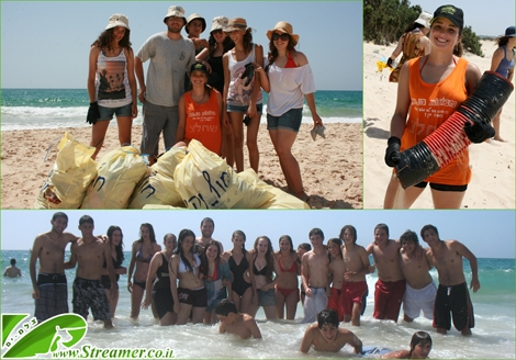 "<strong><font color=""#333333""><font color=""#008000"">On Friday 10.06.2011 we conducted beach clen-up project at Nitzanim beach, Israel.</font>  Streamer's Green Beach initiative along with Kibutzs young group (Bnei  Shimon) cleaned the beach from garbage and hazardous objects. After one  hour of activity we mannaged to collect a huge amount of garbage from  beach and surrounding dunes. THank you all for your participation:-) <a href=""http://streamer.co.il/live"">Click here to watch the coverage clip and Photo Gallery</a></font></strong>"