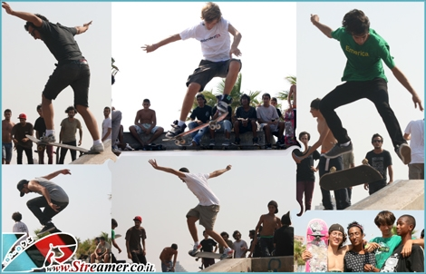 "<font color=""#333333""><strong><font color=""#FF0000"">Grinding rails and skateboards</font> at STASH demo in skatepark Ashkelon. Friday 08 July 2011. Click on main photo to wath the full photo album. <a href=""http://streamer.co.il/live/?file_id=704"">Click here to watch the Skateboard clip</a>.</strong></font>"