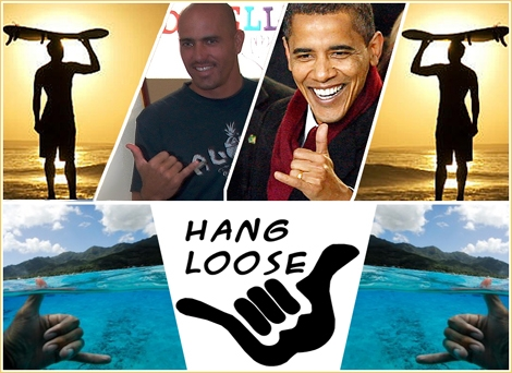 "<font color=""#333333""><strong>Shaka Obama and kelly slater as well... The Shaka is a powerful hawaiian sign that often used by surfers. meaning: Hang Loose, Aloha and Right on. shake the Shaka in the <a href=""http://streamer.co.il/articles/view/106/"">next article</a> :-)</strong></font>"