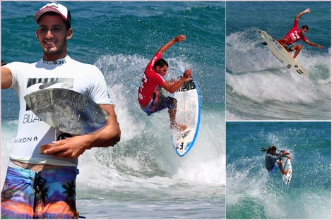 "<font color=""#003366""><strong>las competition of the Billabong Juniors protour in Israel came to an end at Bat-yam on Friday August 5th. The winner is <font color=""#FF0000"">Gil Atias</font> (18) from Netanya. Second place: <font color=""#FF0000"">Gil Keren</font> from TLV and at the Freesstyle event: <font color=""#FF0000"">Vovka Merlis</font> from Bat Yam. <a href=""http://streamer.co.il/news/view/267/"">Click here to watch more photos</a></strong></font>"