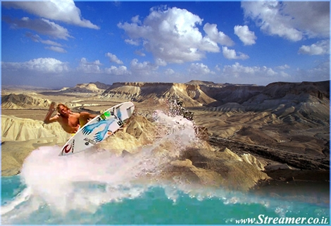 "<font color=""#003366""><strong><font color=""#FF0000"">Surfing in the Israeli deseret?</font> This Ilustration photo might become reality. A group of initiators are planning to build the first ever Israeli Surfing Village in the Negev!!! <a href=""http://streamer.co.il/news/view/279/"">Click here to read more</a></strong></font>"