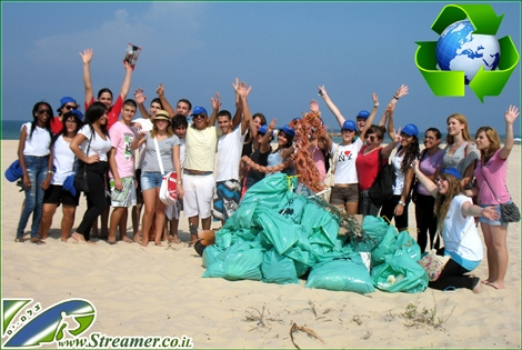 "<font color=""#000080""><strong><font color=""#008000"">Making justice with nature</font>. on Friday Sep 23rd 2011, 50 high  school students cleaned the Yamia beach in Ashqelon as part of the weekly global beach clean-up projects.  From the shore line  to sandy dunes the volunteers managed to collect a huge amount of  garbage. Click on main photo to watch the photo album video clip from the  project. - <font color=""#008000"">Respect</font></strong></font>"