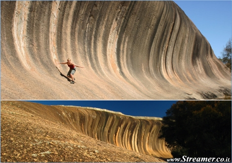 "<font color=""#003366""><strong>One of Western Australias most treasured natural attraction, is like a pre-historic wave frozen in time...! <font color=""#FF0000"">The Wave Rock</font> in Hyden is a true art and mastrpeice of nature's creation ispired by the ocean. <a href=""http://streamer.co.il/articles/view/112/"">Click here to read more</a></strong></font>"