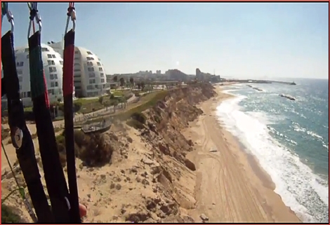 "<font color=""#003366""><strong><font color=""#ff0000"">Moti Balaban</font> is a professional glider. In the next clip he takes us on a flight up along the cliffs of  North Ashqelon beaches. <a href=""http://streamer.co.il/clips/view/104/"">Click here to watch the cli</a>p</strong></font>"