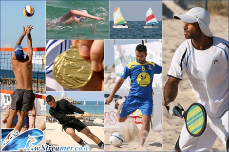 "<font color=""#003366""><strong><font color=""#FF0000"">Sea of Sports at the festival of Ashqelon.</font> Two days events of sport competitons: Beach volley ball, football, Matkot, Patank, Swimming, rRope pulling, sailing and much more. Click on main photo to watch the album from 16+17 October 2011.</strong></font>"