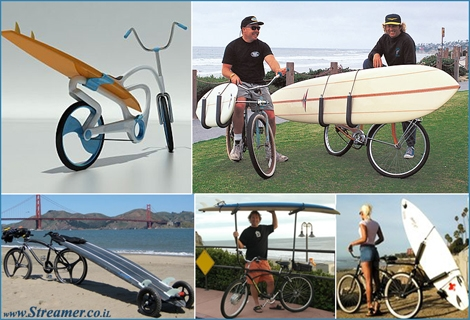 "<font color=""#cc00cc""><strong>Bicycle racks <font color=""#000000"">are a great way to carry your surfboards on the way to a&nbsp; perfect surfing session. Healthy, Enviornmental and fun... More details on the <a href=""http://streamer.co.il/articles/view/118/"">next article</a></font></strong></font> <strong>:-)</strong>"