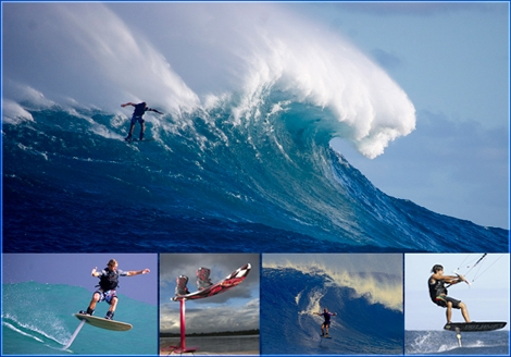 "<font color=""#003366""><strong><font color=""#c10000"">Hydrofoil</font> surfing is just one of those things that doesn&rsquo;t look right when you see it for the first time. These guys are surfing, riding down the face of a wave, and yet the board itself is more than a foot above the surface. Huh? <a href=""http://streamer.co.il/news/view/311/"">Click here to hover over the subject</a></strong></font>"