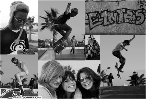 """<font color=""""#003366""""><strong>Blck N' White, collors of winter at skatepark Ashqelon. Socializing and grinding boards and wheels, CLick here to watch the <a href=""""http://streamer.co.il/gallery/cat/new_year_at_the_skatepark_with_team_gilis#11"""">skateboard action</a> from Friday Nov 25th 2011</strong></font>"""