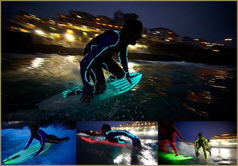 "<font color=""#003366""><strong><font color=""#cc0000"">Bondi Night surfers light up the waves with neon lit wetsuits and surfboards. </font>The event was organised to welcome the arrival of summer in Australia, which officially begins on December 1st. <a href=""http://streamer.co.il/news/view/293/"">Click here to read more, watch clip and photos</a></strong></font>"