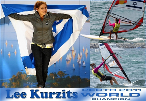 "<strong><font color=""#b700b7"">Israeli Lee Kurzits is the World windsurfing Champion for the year 2011! </font>Thanks to her win in Perth, Australia, she has become the only Israeli to win two awards in the competition - Respect! <a href=""http://streamer.co.il/news/view/297/"">Click here to read more</a></strong>"