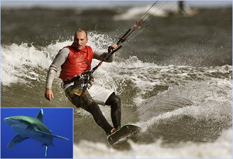 "<font color=""#003366""><strong>42 year old Polish Kite Surfers, <font color=""#b70000"">Jan Lisewski</font>, has survived several shark attacks during his attempt to cross the the Red Sea, from El Gouna to Duba.The kitesurfer was stuck in the water for 48 hours and had to fend off the giant Red Sea sharks with a knife - <a href=""http://streamer.co.il/news/view/321/"">Read all about it in the next article</a></strong></font>"