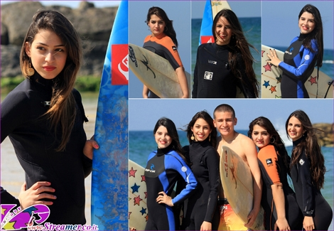 """<font color=""""#003366""""><strong>They will be soon graduate high-school and allready preparing for the ultimate freedom. The best way for these five students to express it, is at the beach with surfboards in their hands. Click here to watch the album from <a href=""""http://streamer.co.il/gallery/cat/people_at_the_beach_-_winter_-_spring_2_12/"""">22.03.2012</a></strong></font>"""